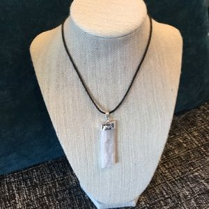 Jewelry - Selenite necklace, Healing Crystal, jewelry